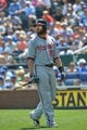 Aug 25, 2013; Kansas City, MO, USA; Washington Nationals batter Jayson Werth (28) walks back to the dugout after striking out against the Kansas City Royals during the second inning at Kauffman Stadium.  Kansas City won 6-4.  Mandatory Credit: Peter G. Aiken-USA TODAY Sports