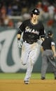 Aug 27, 2013; Washington, DC, USA; Miami Marlins left fielder Christian Yelich (21) rounds the bases after hitting a solo home run during the sixth inning against the Washington Nationals at Nationals Park. Mandatory Credit: Brad Mills-USA TODAY Sports