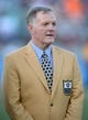 Aug 4, 2013; Canton, OH, USA; Bob Griese at the 2013 Hall of Fame Game at Fawcett Stadium.  Mandatory Credit: Kirby Lee-USA TODAY Sports