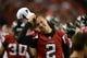 Aug 29, 2013; Atlanta, GA, USA; Atlanta Falcons quarterback Matt Ryan (2) on the sideline during the game against the Jacksonville Jaguars during the second quarter at the Georgia Dome. Mandatory Credit: Dale Zanine-USA TODAY Sports