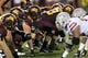 Aug 29, 2013; Minneapolis, MN, USA; A general view of the line of scrimmage in a game between the UNLV Rebels and Minnesota Golden Gophers at TCF Bank Stadium. The Gophers won 51-23. Mandatory Credit: Jesse Johnson-USA TODAY Sports