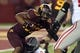 Aug 29, 2013; Minneapolis, MN, USA; Minnesota Golden Gophers running back David Cobb (27) runs with the ball in the third quarter against the UNLV Rebels at TCF Bank Stadium. The Gophers won 51-23. Mandatory Credit: Jesse Johnson-USA TODAY Sports