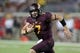 Aug 29, 2013; Minneapolis, MN, USA; Minnesota Golden Gophers quarterback Mitch Leidner (7) runs with the ball in the fourth quarter against the UNLV Rebels at TCF Bank Stadium. The Gophers won 51-23. Mandatory Credit: Jesse Johnson-USA TODAY Sports
