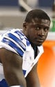 Aug 29, 2013; Arlington, TX, USA; Dallas Cowboys cornerback Morris Claiborne (24) on the bench during the second half against the Houston Texans at AT&T Stadium. Mandatory Credit: Matthew Emmons-USA TODAY Sports