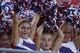 Aug 30, 2013; Dallas, TX, USA; Southern Methodist Mustangs fans cheer before the game against the Texas Tech Red Raiders at Gerald J. Ford Stadium. Texas Tech won 41-23. Mandatory Credit: Tim Heitman-USA TODAY Sports