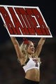 Aug 30, 2013; Dallas, TX, USA; Texas Tech Red Raiders cheerleader performs durng the game against the Southern Methodist Mustangs at Gerald J. Ford Stadium. Texas Tech won 41-23. Mandatory Credit: Tim Heitman-USA TODAY Sports