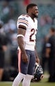 Aug 23, 2013; Oakland, CA, USA; Chicago Bears kick returner Devin Hester (23) before the game against the Oakland Raiders at O.co Coliseum. Mandatory Credit: Kirby Lee-USA TODAY Sports