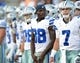Aug 4, 2013; Canton, OH, USA; Dallas Cowboys receiver Dez Bryant (88) during the 2013 Hall of Fame Game against the Miami Dolphins at Fawcett Stadium. The Cowboys defeated the Dolphins 24-20. Mandatory Credit: Kirby Lee-USA TODAY Sports