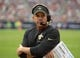 Aug 25, 2013; Houston, TX, USA; New Orleans Saints coach Sean Payton during the game against the Houston Texans at Reliant Stadium. Mandatory Credit: Kirby Lee-USA TODAY Sports