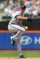 Aug 21, 2013; New York, NY, USA; Atlanta Braves starting pitcher Alex Wood (58) pitches against the New York Mets at Citi Field. Mandatory Credit: Brad Penner-USA TODAY Sports