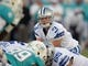 Aug 4, 2013; Canton, OH, USA; Dallas Cowboys quarterback Nick Stephens (3) takes the snap against the Miami Dolphins in the 2013 Hall of Fame Game at Fawcett Stadium.  Mandatory Credit: Kirby Lee-USA TODAY Sports