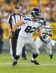 Aug 23, 2013; Green Bay, WI, USA; Seattle Seahawks tight end Luke Willson (82) during the game against the Green Bay Packers at Lambeau Field.  Seattle won 17-10.  Mandatory Credit: Jeff Hanisch-USA TODAY Sports