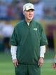 Aug 23, 2013; Green Bay, WI, USA; Green Bay Packers general manager Ted Thompson looks on prior to the game against the Seattle Seahawks at Lambeau Field.  Seattle won 17-10.  Mandatory Credit: Jeff Hanisch-USA TODAY Sports