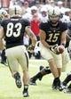 Aug 31, 2013; Cincinnati, OH, Purdue Boilermakers quarterback Rob Henry (15) in the first half during a game against the Cincinnati Bearcats at Nippert Stadium. Mandatory Credit: David Kohl-USA TODAY Sports
