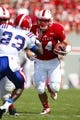 August 31, 2013; Raleigh, NC, USA;  North Carolina State quarterback Bryant Shirreffs (14) carries the ball during the game against Louisiana Tech at Carter Finley Stadium. North Carolina State defeated Louisiana Tech 40-14. Mandatory Credit: James Guillory-USA TODAY Sports