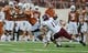 Aug 31, 2013; Austin, TX, USA; Texas Longhorns tailback Johnathan Gray (32) makes a catch against the New Mexico State Aggies during the first half at Darrell K Royal-Texas Memorial Stadium. Mandatory Credit: Brendan Maloney-USA TODAY Sports