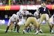 Aug 31, 2013; Seattle, WA, USA; Boise State Broncos quarterback Joe Southwick (16) takes the snap during the game against the Washington Huskies at Husky Stadium. Washington defeated Boise State 38-6. Mandatory Credit: Steven Bisig-USA TODAY Sports
