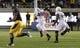 Aug 31, 2013; Berkeley, CA, USA; Northwestern Wildcats linebacker Collin Ellis (45) returns an interception for a touchdown against the California Golden Bears during the fourth quarter at Memorial Stadium. Northwestern won 44-30. Mandatory Credit: Kelley L Cox-USA TODAY Sports