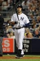 Aug 30, 2013; Bronx, NY, USA; New York Yankees shortstop Derek Jeter (2) bats against the Baltimore Orioles during a game at Yankee Stadium. Mandatory Credit: Brad Penner-USA TODAY Sports