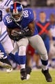 Aug 18, 2013; East Rutherford, NJ, USA; New York Giants wide receiver Hakeem Nicks (88) makes a catch against the Indianapolis Colts during the second quarter of a preseason game at MetLife Stadium. Mandatory Credit: Brad Penner-USA TODAY Sports