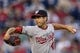 Sep 3, 2013; Philadelphia, PA, USA; Washington Nationals pitcher Gio Gonzalez (47) delivers to the plate during the first inning against the Philadelphia Phillies at Citizens Bank Park. Mandatory Credit: Howard Smith-USA TODAY Sports