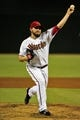 Sept 3, 2013; Phoenix, AZ, USA; Arizona Diamondbacks starting pitcher Wade Miley (36) throws during the second inning against the Toronto Blue Jays at Chase Field. Mandatory Credit: Matt Kartozian-USA TODAY Sports