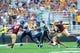 Aug 31, 2013; Boston, MA, USA; Villanova Wildcats quarterback John Robertson (19) runs with the ball during the first half against the Boston College Eagles at Alumni Stadium. Mandatory Credit: Bob DeChiara-USA TODAY Sports