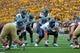 Aug 31, 2013; Boston, MA, USA; Villanova Wildcats quarterback John Robertson (19) directs the offense during the first half against the Boston College Eagles at Alumni Stadium. Mandatory Credit: Bob DeChiara-USA TODAY Sports