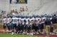 Aug 31, 2013; Boston, MA, USA; The Villanova Wildcats take to the field for pre game warmups prior to a game against the Boston College Eagles at Alumni Stadium. Mandatory Credit: Bob DeChiara-USA TODAY Sports