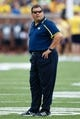 Aug 31, 2013; Ann Arbor, MI, USA; Michigan Wolverines head coach Brady Hoke during the game against the Central Michigan Chippewas at Michigan Stadium. Mandatory Credit: Rick Osentoski-USA TODAY Sports