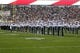 Aug 30, 2013; East Lansing, MI, USA; Michigan State Spartans matching band performs prior to a game against the Western Michigan Broncos at Spartan Stadium.   Mandatory Credit: Mike Carter-USA TODAY Sports