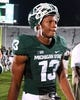 Aug 30, 2013; East Lansing, MI, USA; Michigan State Spartans wide receiver Bennie Fowler (13) walks off the field after a game against the Western Michigan Broncos at Spartan Stadium.   Mandatory Credit: Mike Carter-USA TODAY Sports