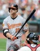 Sep 2, 2013; Cleveland, OH, USA; Baltimore Orioles first baseman Chris Davis (19) at bat during a recent game against the Cleveland Indians at Progressive Field. Mandatory Credit: Ken Blaze-USA TODAY Sports