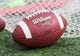 Aug 31, 2013; Madison, WI, USA; A football sits on the field during warmups prior to the game against the Massachusetts Minutemen at Camp Randall Stadium.  Wisconsin won 45-0.  Mandatory Credit: Jeff Hanisch-USA TODAY Sports