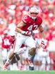 Aug 31, 2013; Madison, WI, USA; Wisconsin Badgers linebacker Vince Biegel (47) during the game against the Massachusetts Minutemen at Camp Randall Stadium.  Wisconsin won 45-0.  Mandatory Credit: Jeff Hanisch-USA TODAY Sports
