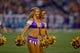 Aug 29, 2013; Minneapolis, MN, USA; A Minnesota Vikings cheerleader performs in the game with the Tennessee Titans at Mall of America Field at H.H.H. Metrodome. Vikings win 24-23. Mandatory Credit: Bruce Kluckhohn-USA TODAY Sports