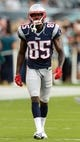 Aug 9, 2013; Philadelphia, PA, USA; New England Patriots wide receiver Kenbrell Thompkins (85) during warmups prior to playing the Philadelphia Eagles at Lincoln Financial Field. The Patriots defeated the Eagles 31-22. Mandatory Credit: Howard Smith-USA TODAY Sports