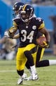 Aug 29, 2013; Charlotte, NC, USA; Pittsburgh Steelers running back LaRod Stephens-Howling (34) runs the ball during the first quarter against the Carolina Panthers at Bank of America Stadium. Mandatory Credit: Jeremy Brevard-USA TODAY Sports
