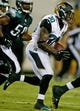 Aug 24, 2013; Jacksonville, FL, USA; Jacksonville Jaguars running back Jordan Todman (30) runs a 63-yard touchdown during the second quarter of their game at EverBank Field. The Philadelphia Eagles beat the Jacksonville Jaguars 31-24. Mandatory Credit: Phil Sears-USA TODAY Sports