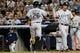 Sep 4, 2013; Bronx, NY, USA;  Chicago White Sox right fielder Avisail Garcia (26) and first baseman Paul Konerko (14) celebrate scoring during the eighth inning against the Chicago White Sox at Yankee Stadium. Yankees won 6-5.  Mandatory Credit: Anthony Gruppuso-USA TODAY Sports