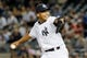 Sep 4, 2013; Bronx, NY, USA;  New York Yankees relief pitcher Mariano Rivera (42) pitches during the eighth inning against the Chicago White Sox at Yankee Stadium. Yankees won 6-5.  Mandatory Credit: Anthony Gruppuso-USA TODAY Sports