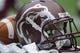 Aug 31, 2013; Houston, TX, USA; General view of a Mississippi State Bulldogs helmet during a game against the Oklahoma State Cowboys at Reliant Stadium. Mandatory Credit: Troy Taormina-USA TODAY Sports