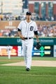 Aug 30, 2013; Detroit, MI, USA; Detroit Tigers starting pitcher Rick Porcello (21) walks off the field against the Cleveland Indians at Comerica Park. Mandatory Credit: Rick Osentoski-USA TODAY Sports