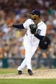 Aug 30, 2013; Detroit, MI, USA; Detroit Tigers relief pitcher Al Alburquerque (62) pitches during the sixth inning against the Cleveland Indians at Comerica Park. Mandatory Credit: Rick Osentoski-USA TODAY Sports