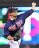 Sep 6, 2013; Minneapolis, MN, USA; Minnesota Twins pitcher Brian Duensing (52) delivers a pitch during the ninth inning against the Toronto Blue Jays at Target Field. The Blue Jays defeated the Twins 6-5. Mandatory Credit: Brace Hemmelgarn-USA TODAY Sports