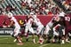 Sep 7, 2013; Philadelphia, PA, USA; Houston Cougars quarterback John O'Korn (5) passes the ball during the fourth quarter against the Temple Owls at Lincoln Financial Field. Houston defeated temple 22-13. Mandatory Credit: Howard Smith-USA TODAY Sports