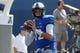 Sep 7, 2013; Memphis, TN, USA; Memphis Tigers quarterback Paxton Lynch (12) warming up before games against Duke Blue Devils at Liberty Bowl Memorial. Mandatory Credit: Justin Ford-USA TODAY Sports