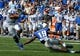 Sep 7, 2013; Memphis, TN, USA;Duke Blue Devils quarterback Anthony Boone (7) rushes the ball against Memphis Tigers at Liberty Bowl Memorial. Mandatory Credit: Justin Ford-USA TODAY Sports
