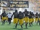 Sep 7, 2013; Columbia, MO, USA; The Missouri Tigers take the field prior to the game against the Toledo Rockets at Faurot Field. Mandatory Credit: Jasen Vinlove-USA TODAY Sports