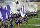 Sep 7, 2013; Evanston, IL, USA;  Northwestern Wildcats take the field before the game against the Syracuse Orange at Ryan Field. Mandatory Credit: David Banks-USA TODAY Sports